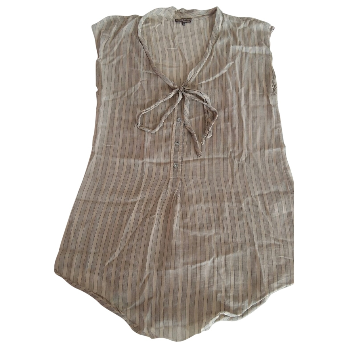 Maliparmi \N Ecru Cotton  top for Women 40 IT