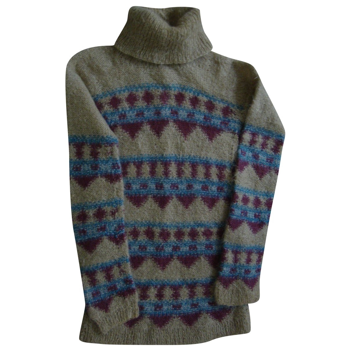 Non Signe / Unsigned \N Pullover in  Bunt Wolle