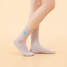 Calcetines con bordado