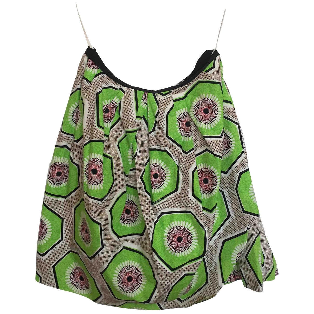Carven \N Green Cotton skirt for Women 40 FR
