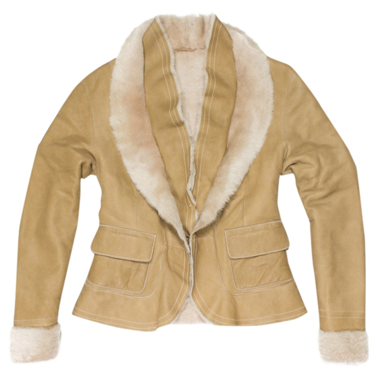 Marc Cain \N Beige Leather jacket for Women M International