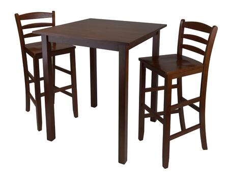 94359 Parkland 3-Pc Table with 2 Ladder Back