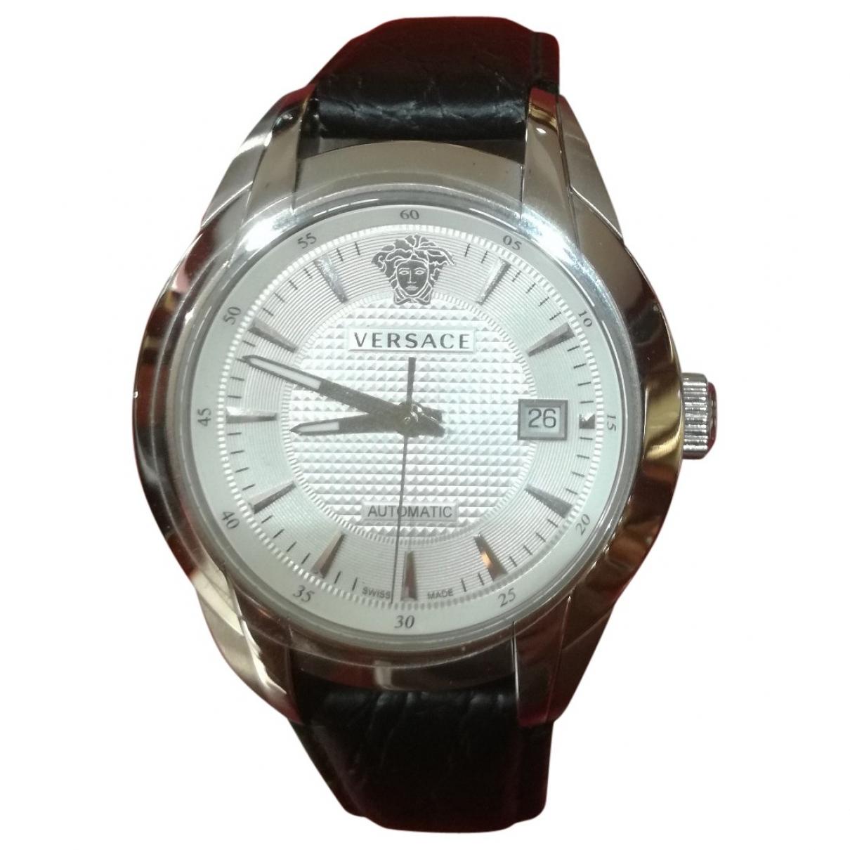 Versace \N Uhr in  Weiss Stahl