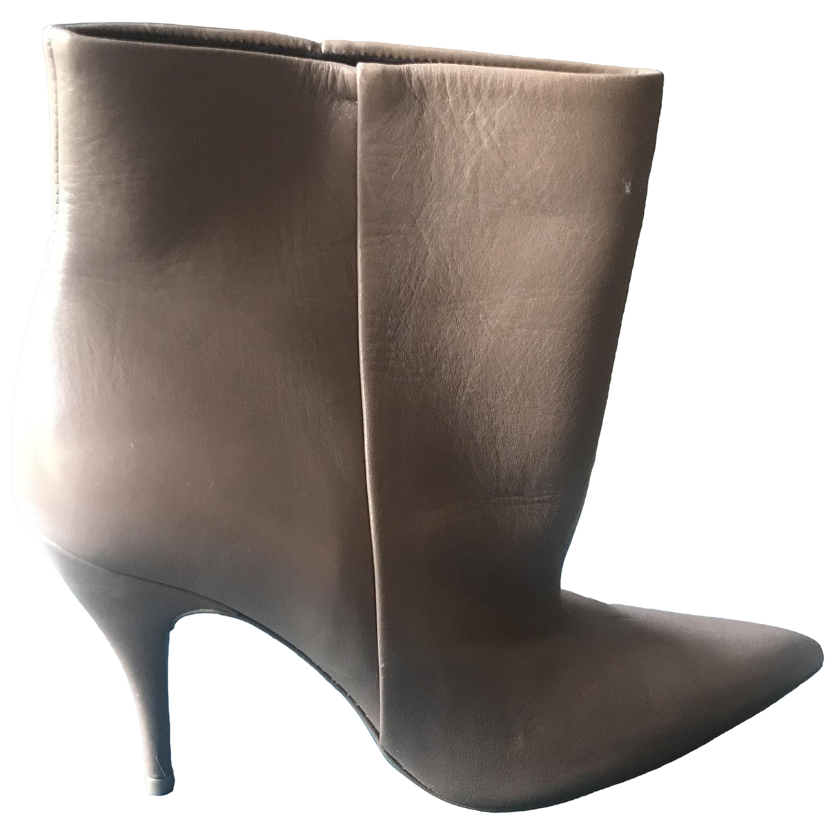 Zara \N Pink Leather Ankle boots for Women 38 EU
