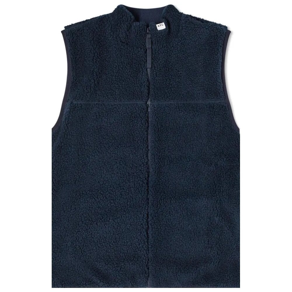 A.p.c Apc Cardigan Gilet Colour: NAVY, Size: MEDIUM