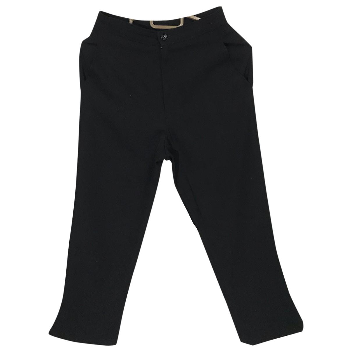 Pantalones en Algodon Negro Comme Des Garcons