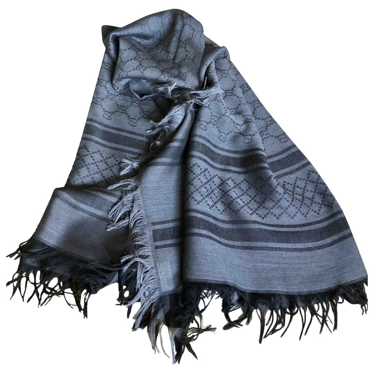 Gucci \N Anthracite Wool scarf for Women \N