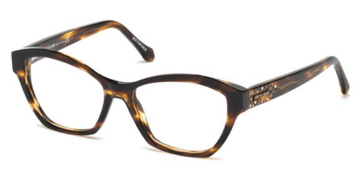 Roberto Cavalli RC 5038 COREGLIA 056 Women's Glasses Tortoise Size 55 - Free Lenses - HSA/FSA Insurance - Blue Light Block Available