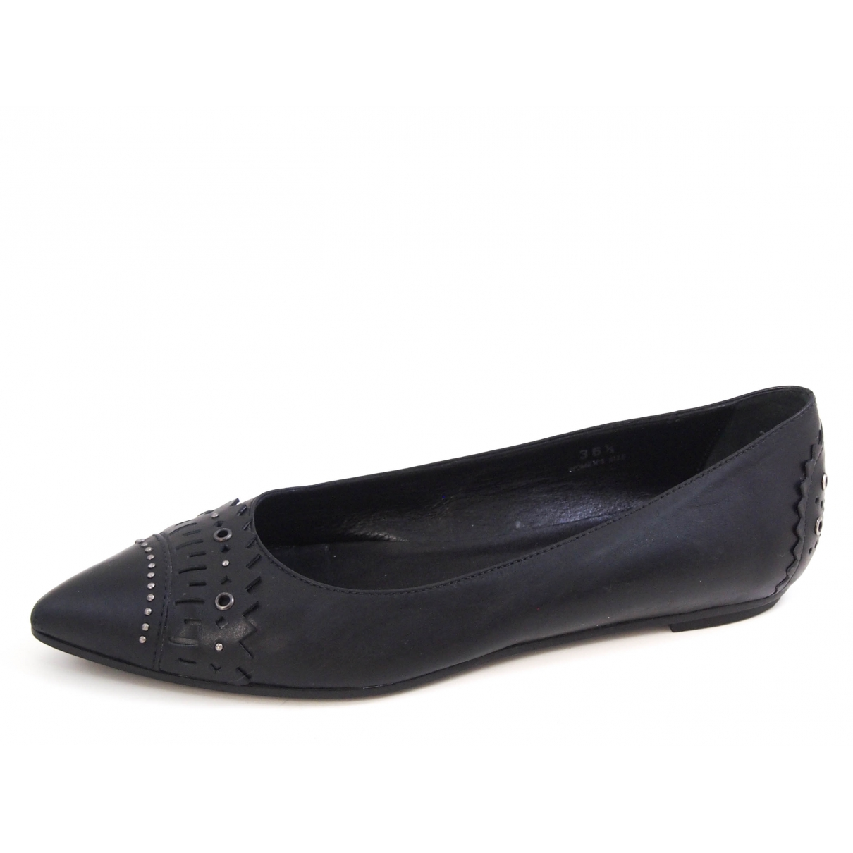 Tod's \N Black Leather Ballet flats for Women 36.5 EU