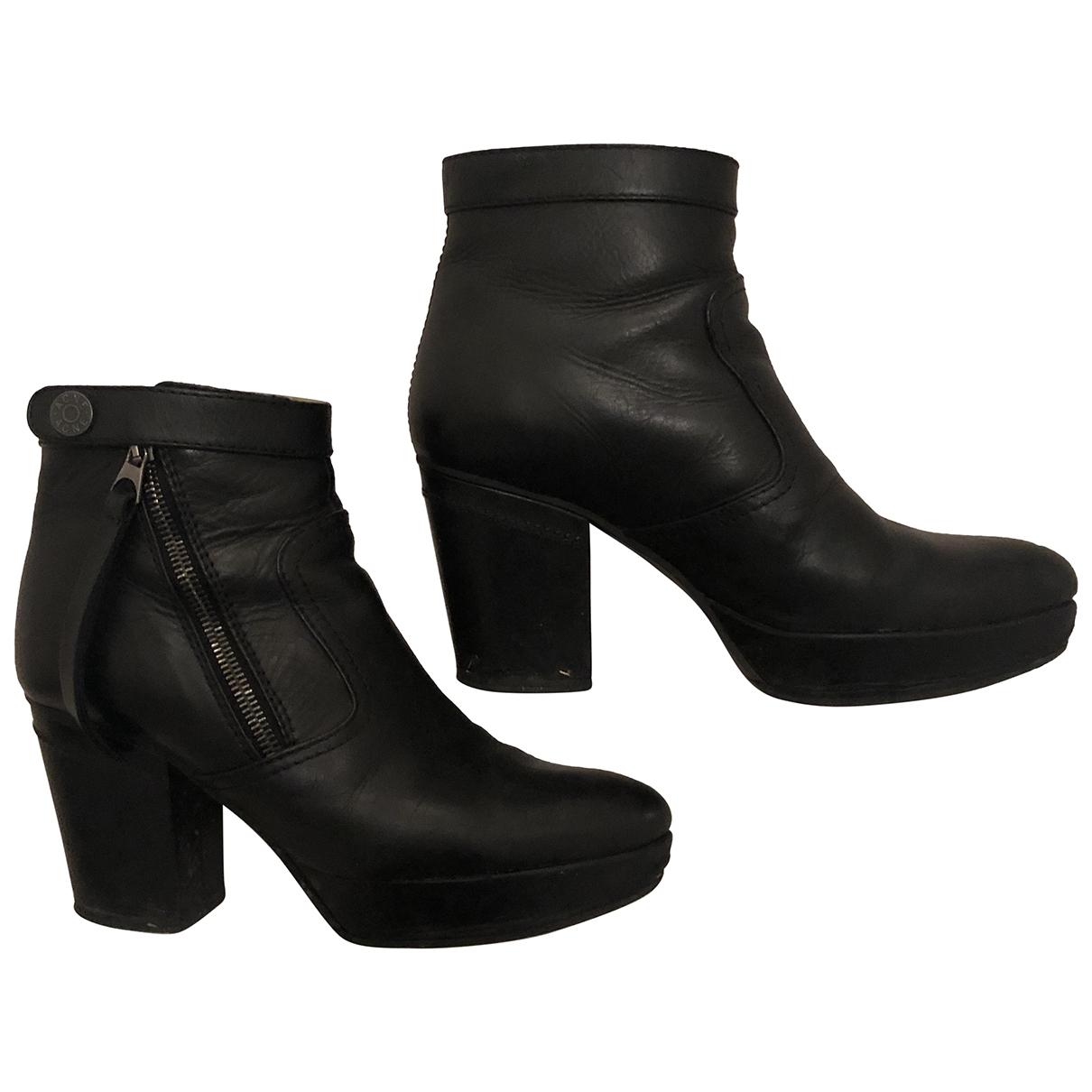 Acne Studios \N Black Leather Boots for Women 36 EU