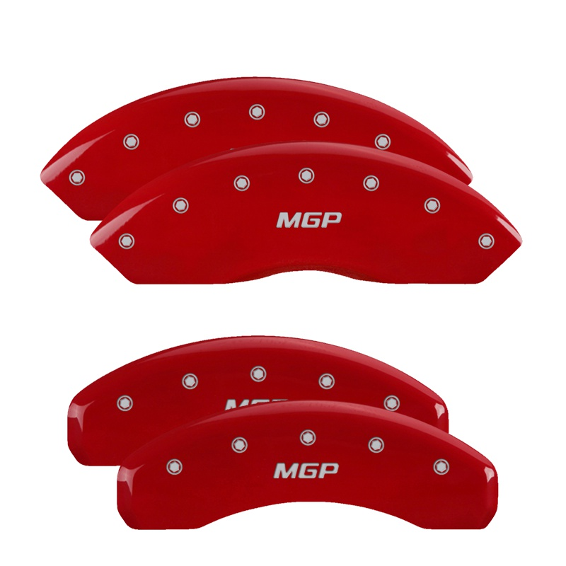 MGP Caliper Covers 11218SMGPRD Set of 4: Red finish, Silver MGP / MGP Volkswagen Jetta 2009-2014