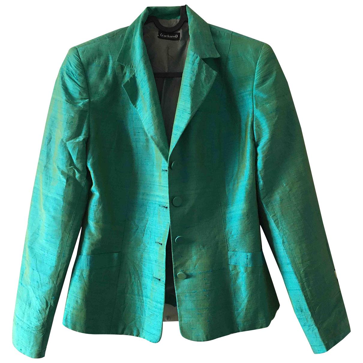 Cacharel - Veste   pour femme en soie - turquoise