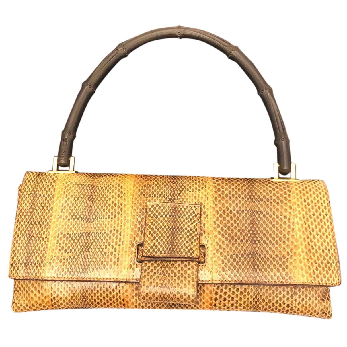 Gucci N Brown Water snake Clutch bag for Women N