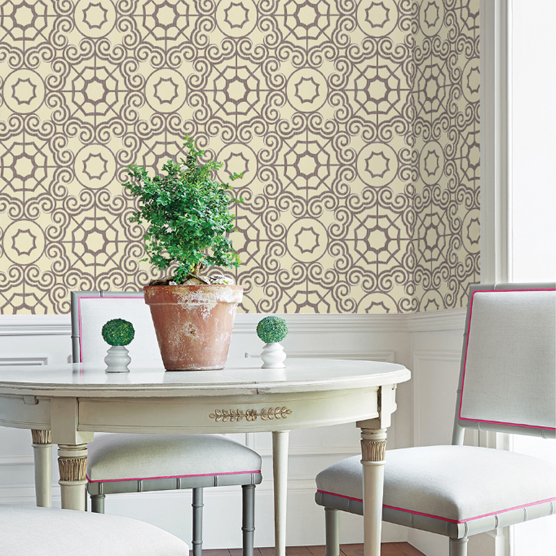 Mildew Resistant Silk Cloth Material European Style Wall Murals