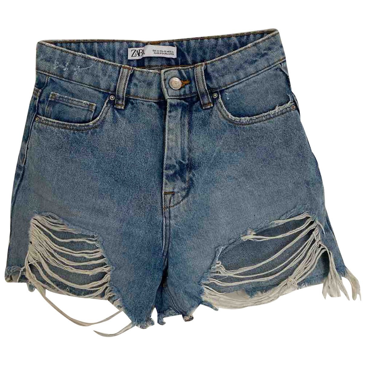 Zara N Blue Denim - Jeans Shorts for Women XS International