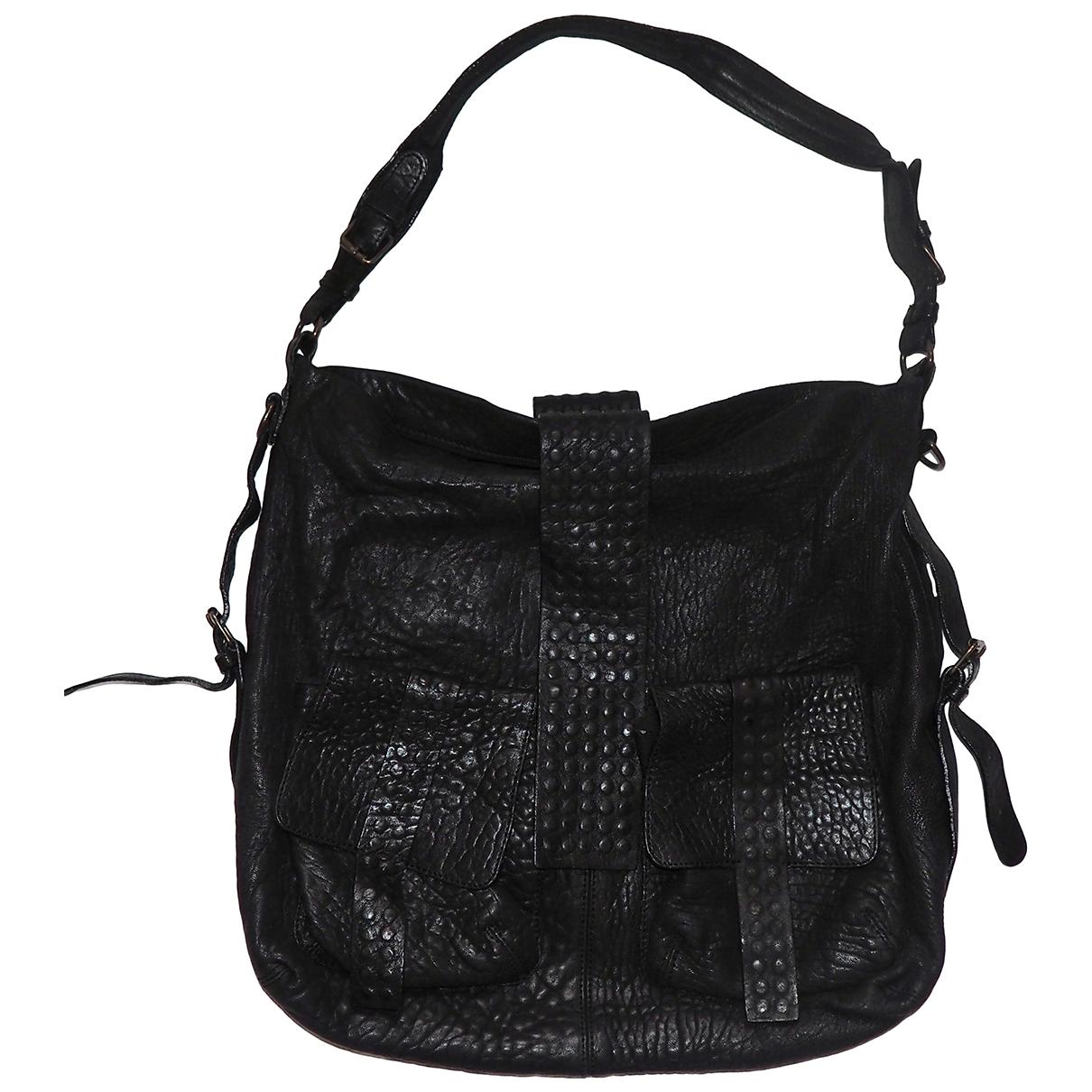 Et Vous \N Handtasche in  Schwarz Leder