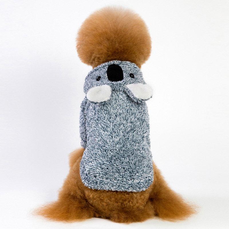 Pet Dog Koala Winter Warm Costume Puppy Funny Animal Shape Clothing