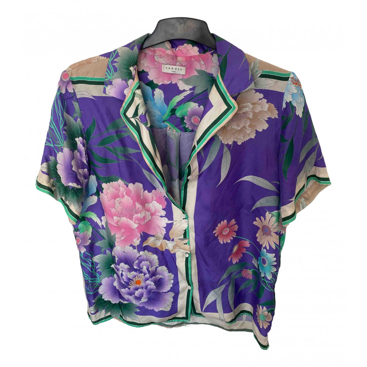 Sandro Spring Summer 2020 Purple Silk  top for Women 3 0-5