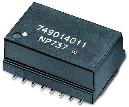 Wurth Elektronik Surface Mount Lan Ethernet Transformer, 24.55 x 18.25mm, -40 → +85 °C (250)