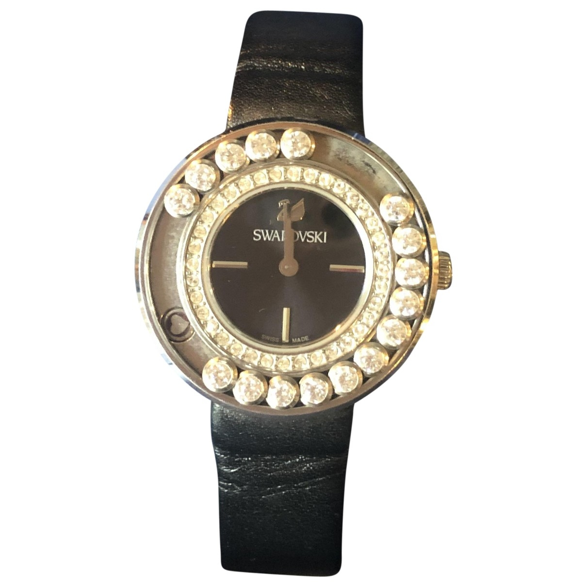 Swarovski \N Black Steel watch for Women \N