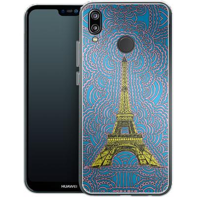 Huawei P20 Lite Silikon Handyhuelle - Eiffel Tower von Kaitlyn Parker