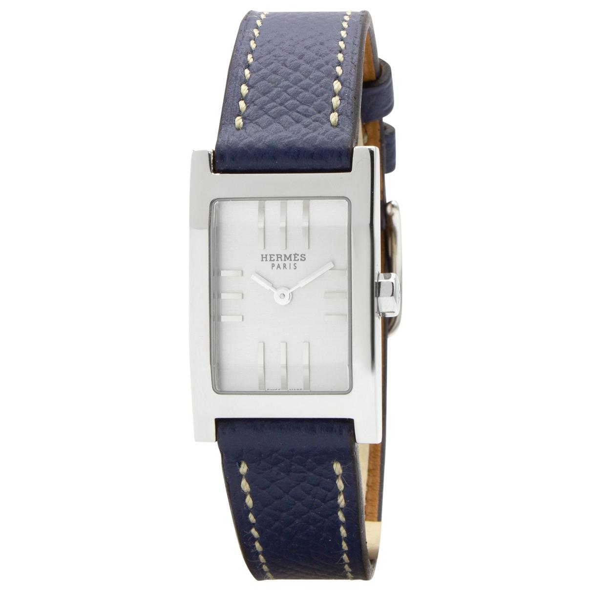 Hermes Tandem Uhr in  Blau Stahl