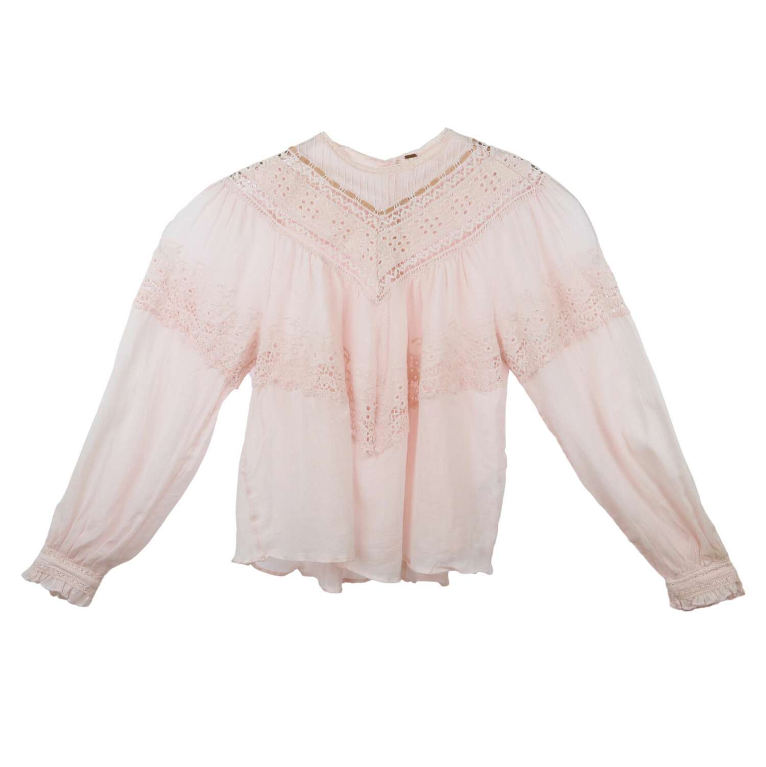 Free People Womens Moon Cake Abigail Victorian Top Blouse - S