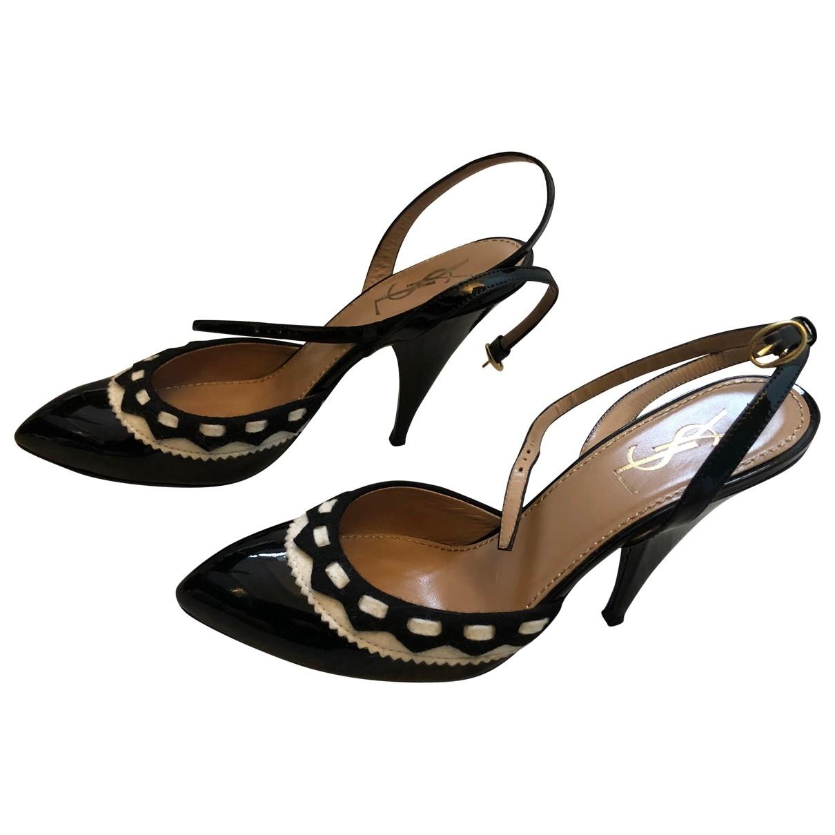 Yves Saint Laurent \N Black Patent leather Heels for Women 37 EU