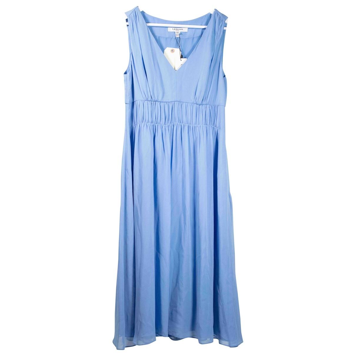 Lk Bennett - Robe   pour femme en soie - bleu