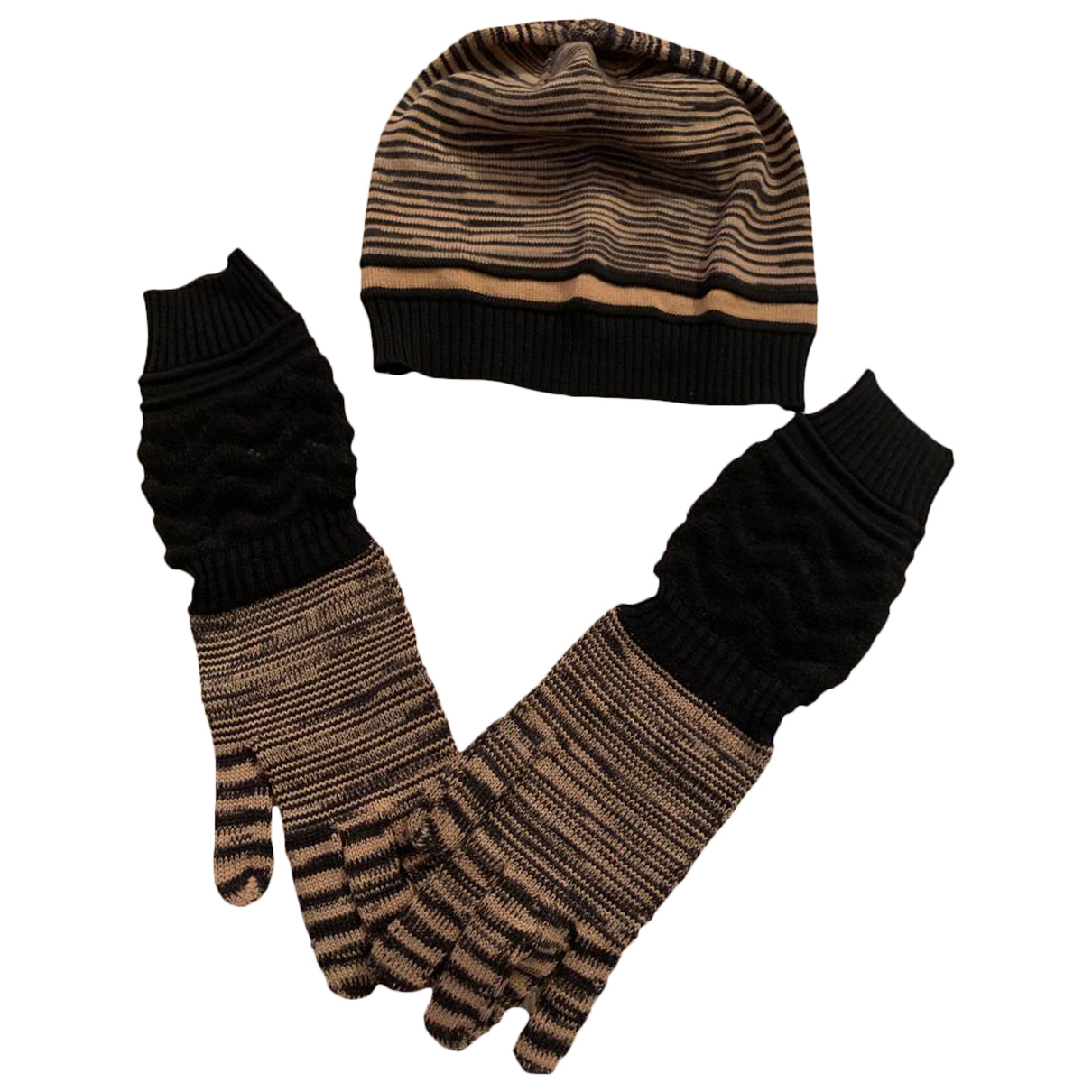 Missoni \N Handschuhe in  Braun Wolle