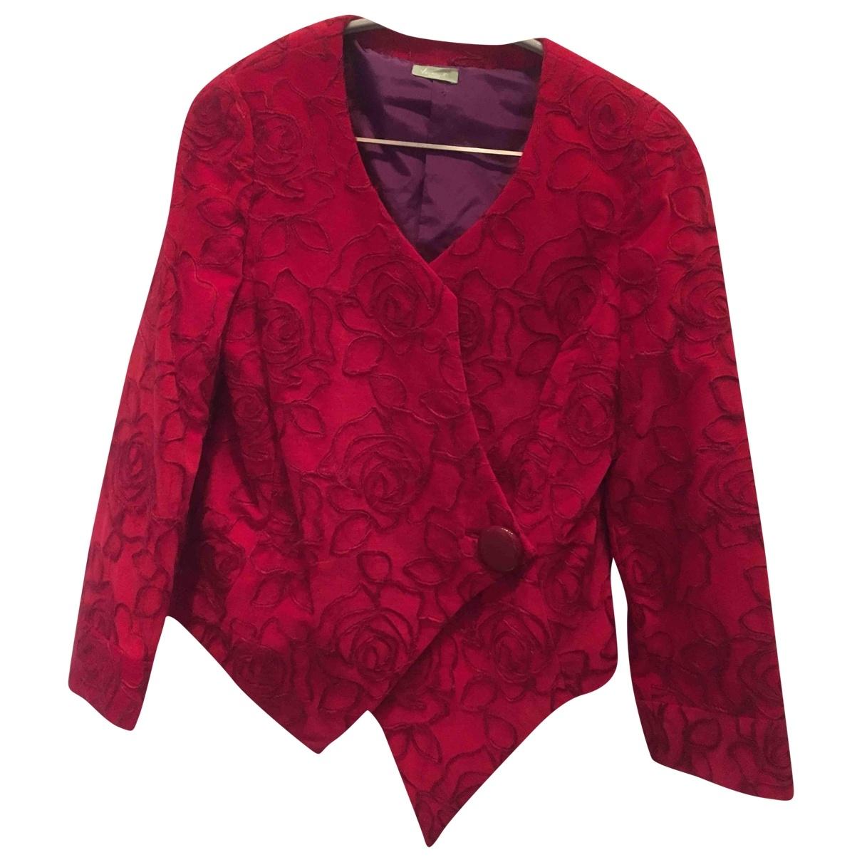 - Veste Hippie Chic pour femme en laine - rouge