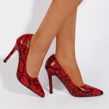 Snakeskin Stiletto Court Heels