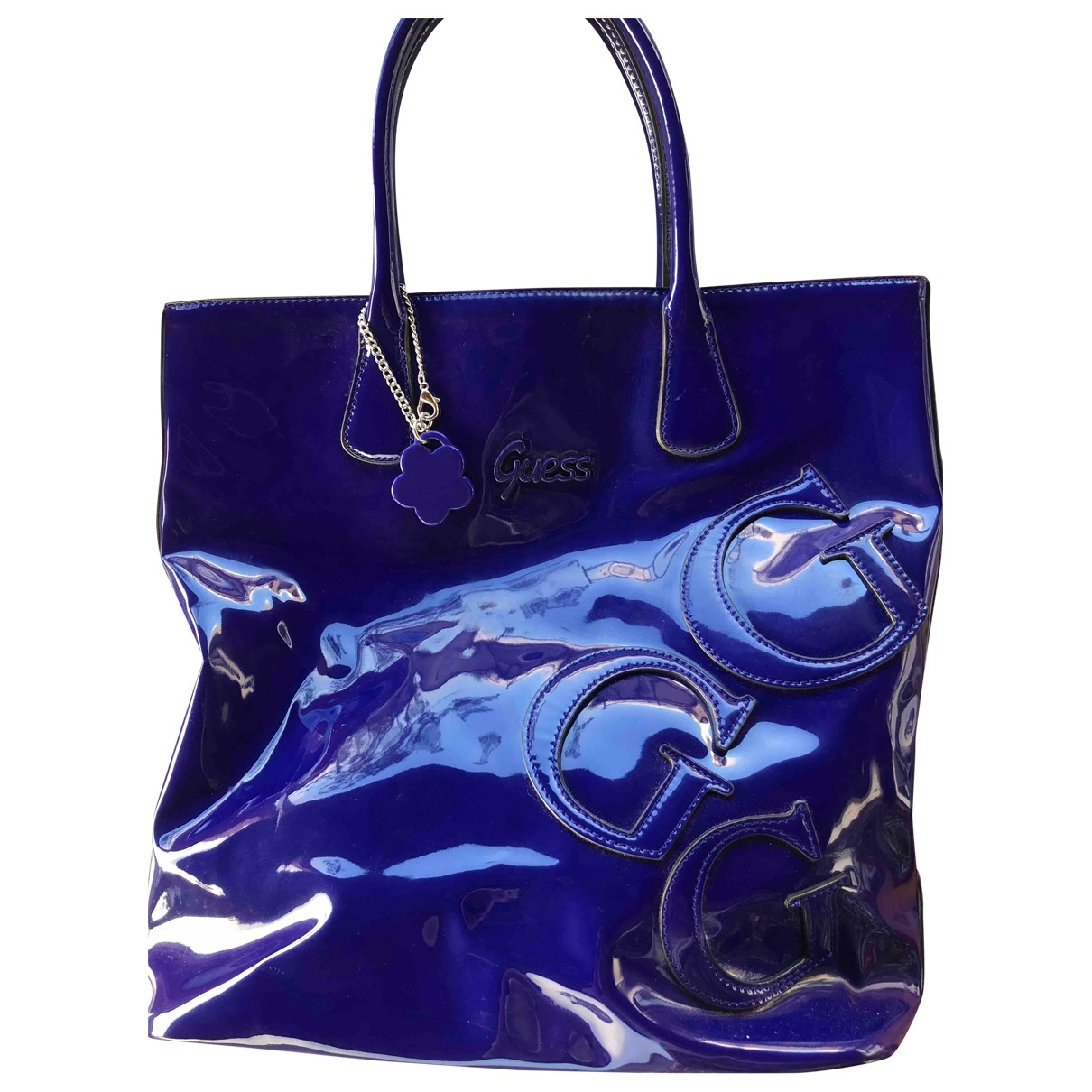 Guess \N Blue Patent leather handbag for Women \N
