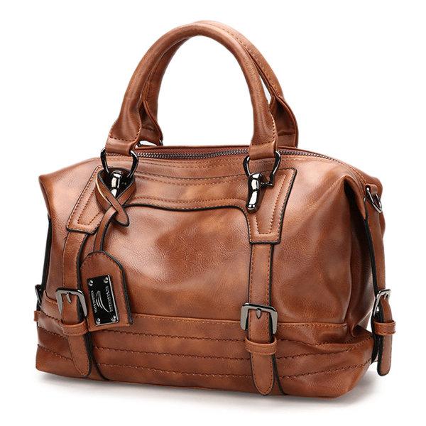 Women Vintage Boston Handbag Shoulder Bag Crossbody Bag For Women