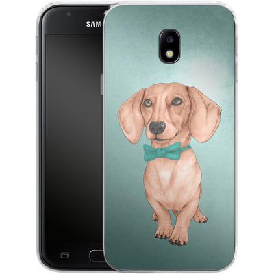 Samsung Galaxy J3 (2017) Silikon Handyhuelle - Dachshund the Wiener Dog von Barruf