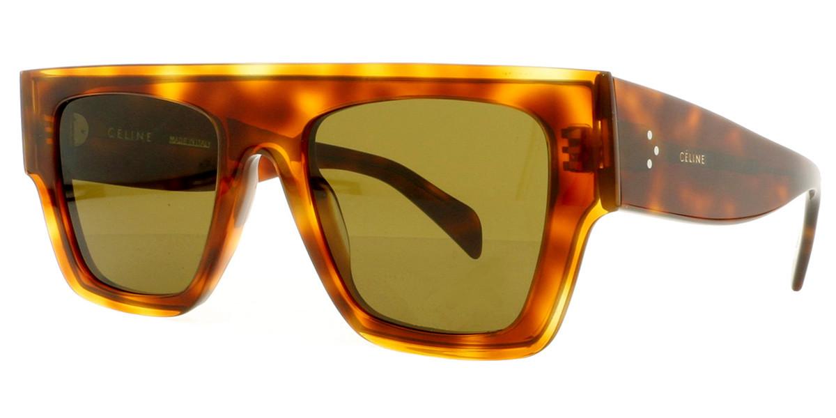 Celine CL40014I 53J Women's Sunglasses Tortoise Size 51
