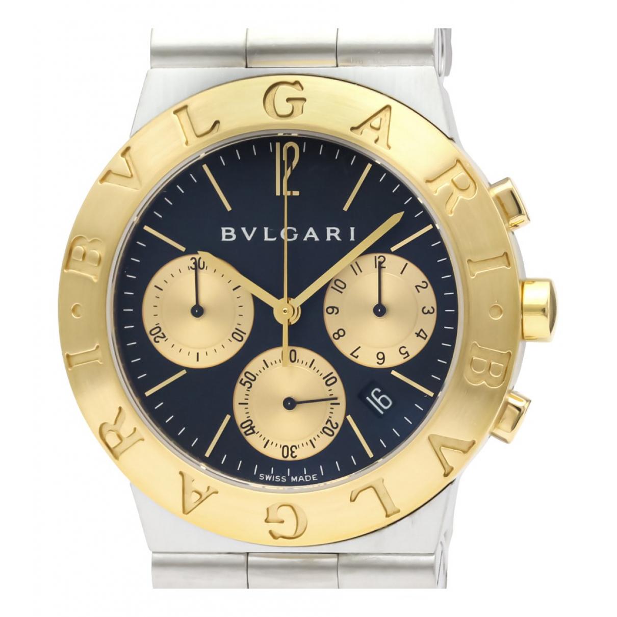 Bvlgari Diagono Uhr in  Schwarz Gold und Stahl