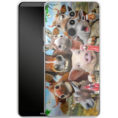 Huawei Mate 10 Pro Silikon Handyhuelle - Farm Selfie von Howard Robinson