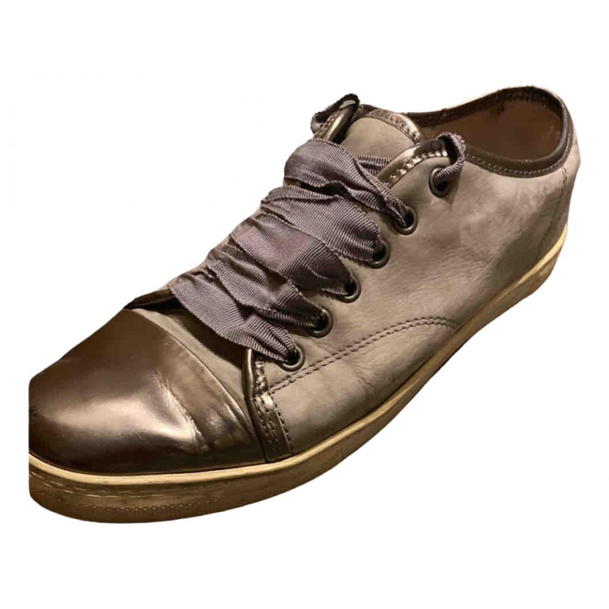 Lanvin \N Sneakers in  Grau Veloursleder