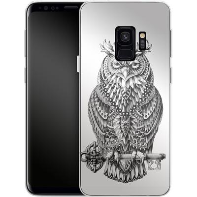Samsung Galaxy S9 Silikon Handyhuelle - Great Horned Owl von BIOWORKZ
