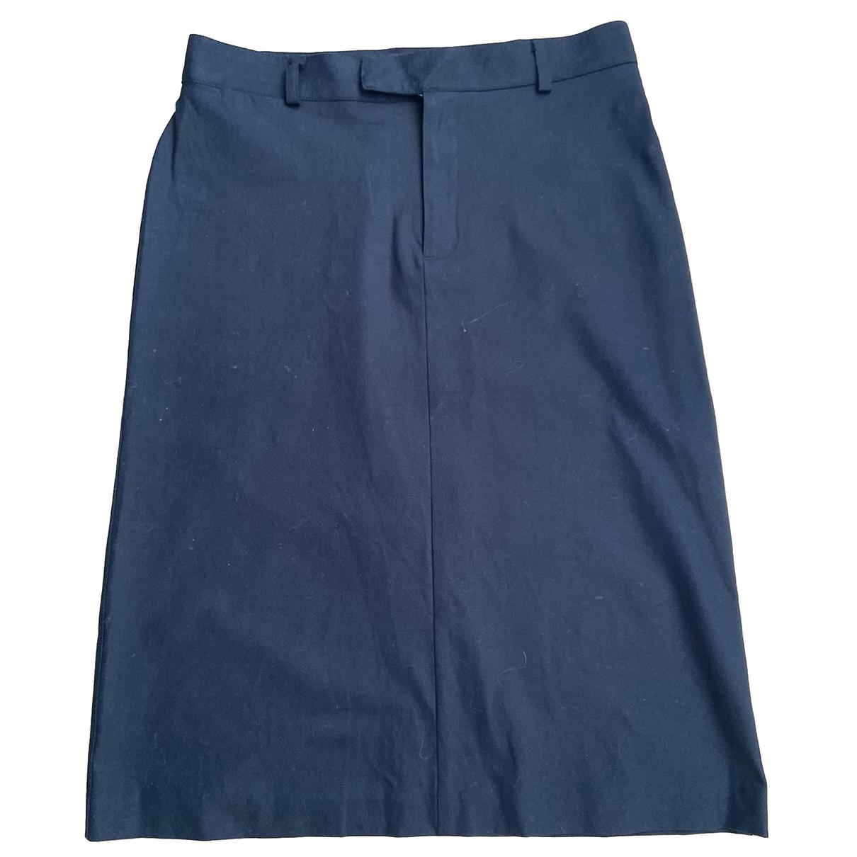 Apc \N Black Cotton skirt for Women 38 FR