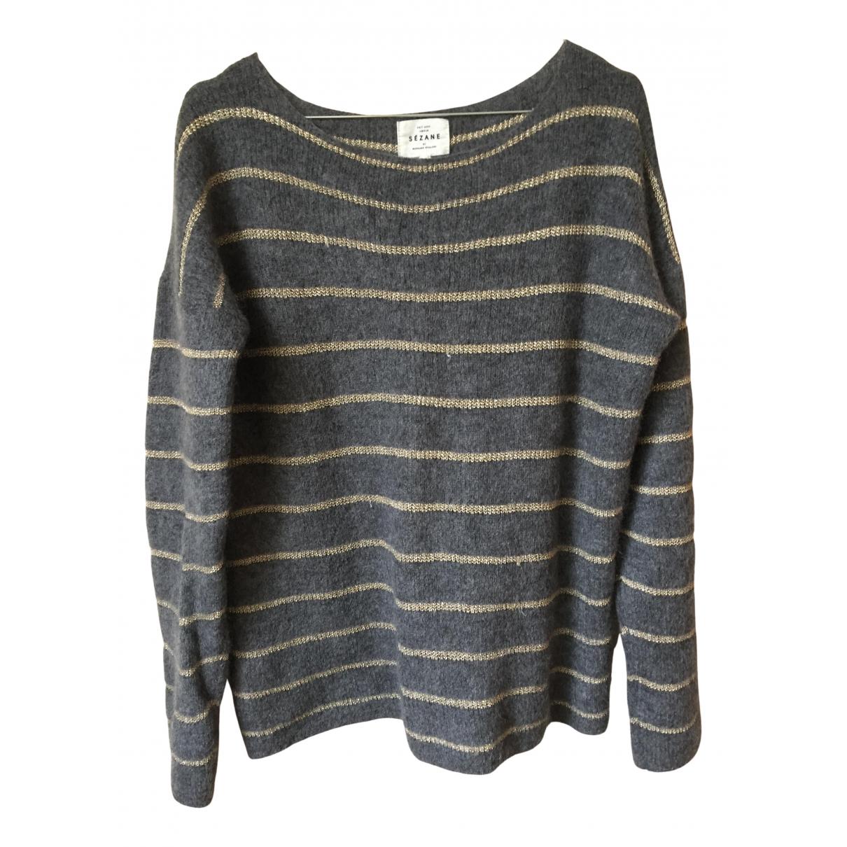 Sézane N Anthracite Wool Knitwear for Women 38 FR