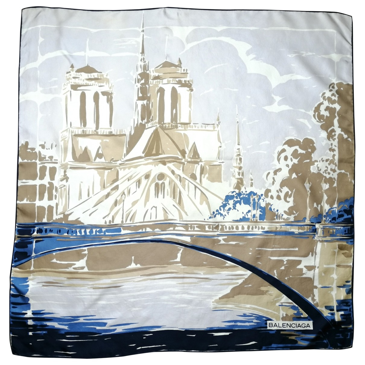 Balenciaga - Foulard   pour femme en autre - bleu