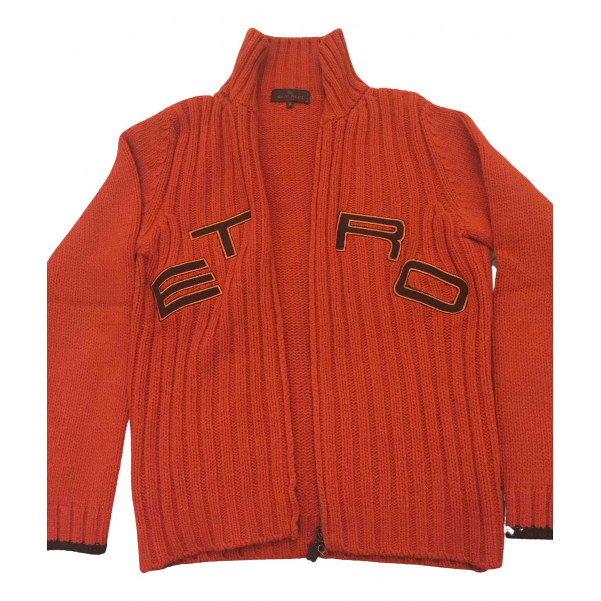 Etro \N Pullover.Westen.Sweatshirts  in  Orange Wolle