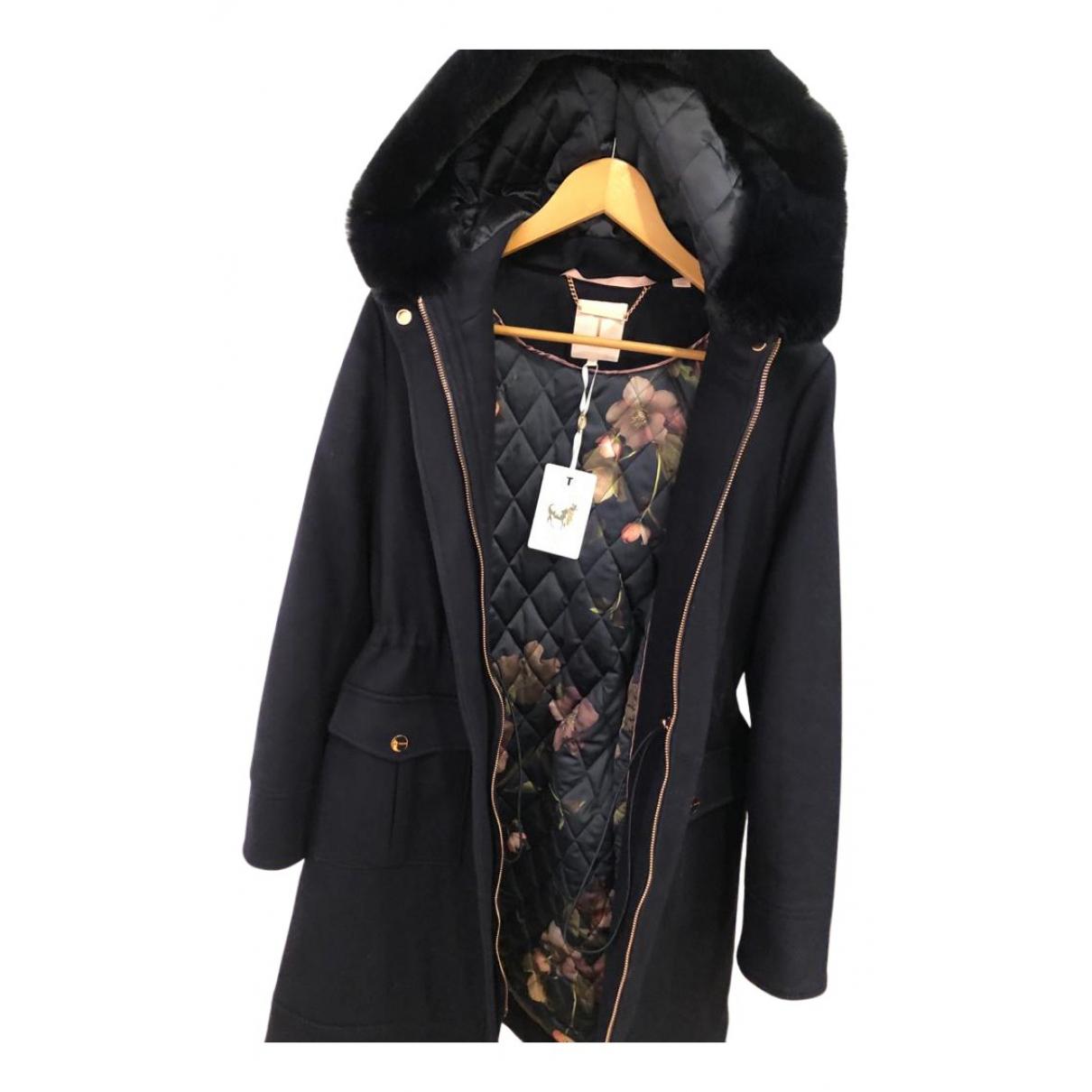 Ted Baker - Manteau   pour femme en laine - marine