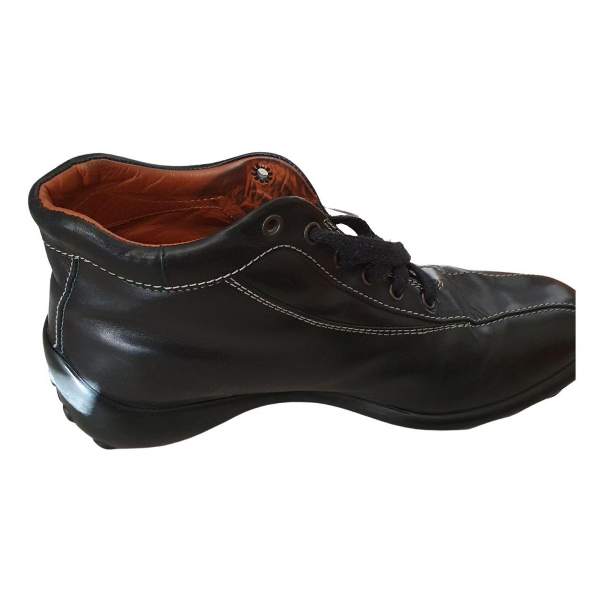 Tod's - Bottes.Boots   pour homme en cuir - noir