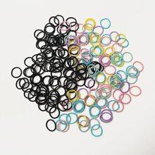 200 piezas goma de pelo de colores