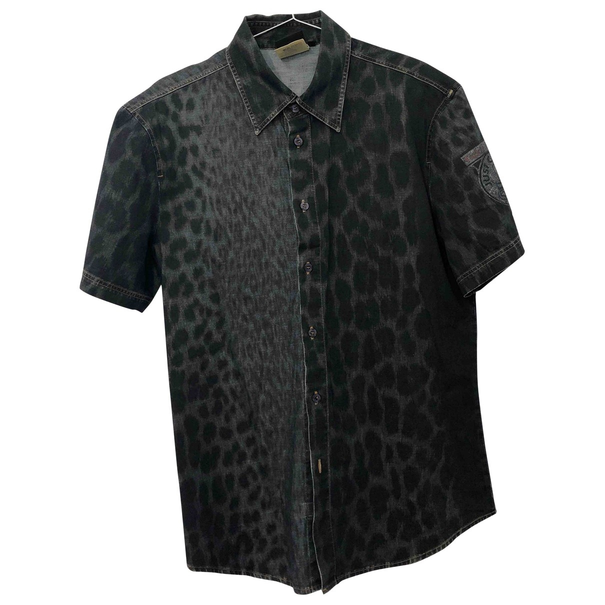 Just Cavalli \N Blue Cotton Shirts for Men S International