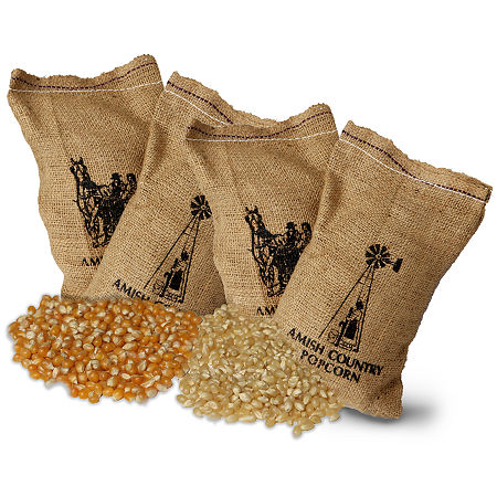 Farm Fresh Burlap Popcorn Kernel Bags - Set of 4, One Size , Multiple Colors