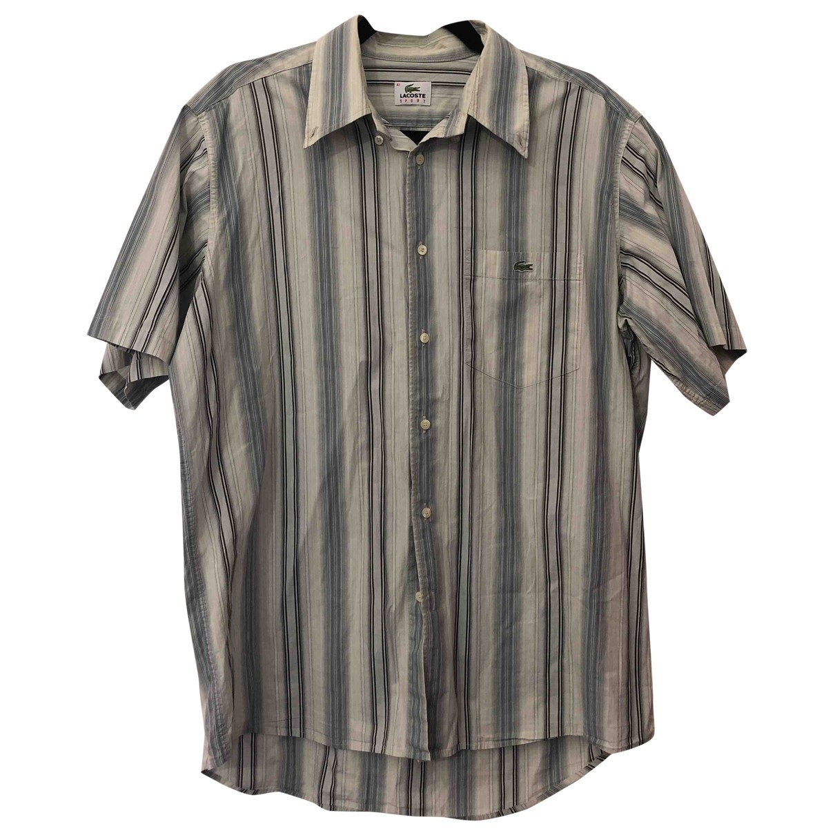Lacoste - Chemises   pour homme en coton - multicolore
